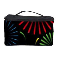 Fireworks With Star Vector Cosmetic Storage Case