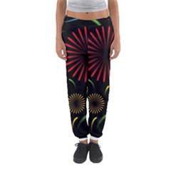 Fireworks With Star Vector Women s Jogger Sweatpants