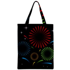 Fireworks With Star Vector Zipper Classic Tote Bag