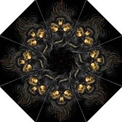 Art Fiction Black Skeletons Skull Smoke Golf Umbrellas