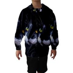 Face Black Cat Hooded Wind Breaker (kids)