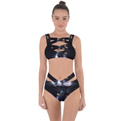 Face Black Cat Bandaged Up Bikini Set