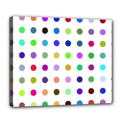 Circle Pattern Deluxe Canvas 24  X 20