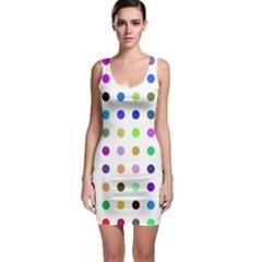 Circle Pattern Bodycon Dress
