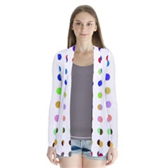 Circle Pattern Drape Collar Cardigan