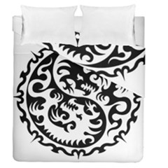 Ying Yang Tattoo Duvet Cover Double Side (queen Size)