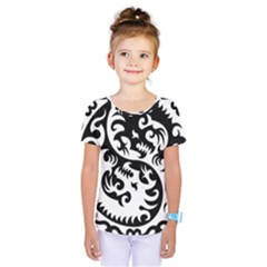 Ying Yang Tattoo Kids  One Piece Tee