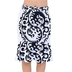 Ying Yang Tattoo Mermaid Skirt