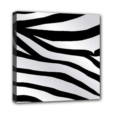White Tiger Skin Mini Canvas 8  X 8