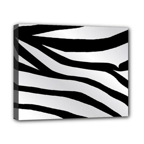 White Tiger Skin Canvas 10  X 8