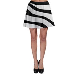White Tiger Skin Skater Skirt