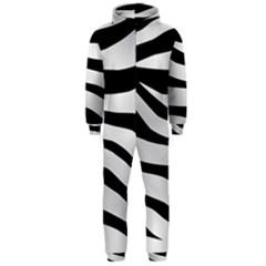 White Tiger Skin Hooded Jumpsuit (men)