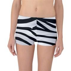 White Tiger Skin Reversible Boyleg Bikini Bottoms