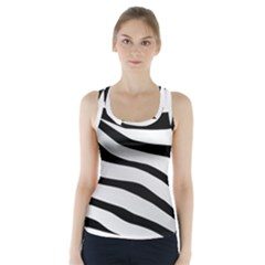 White Tiger Skin Racer Back Sports Top