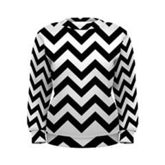 Black And White Chevron Women s Sweatshirt