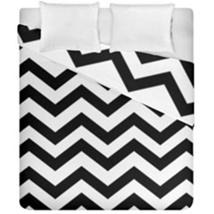 Black And White Chevron Duvet Cover Double Side (california King Size)