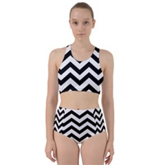 Black And White Chevron Bikini Swimsuit Spa Swimsuit