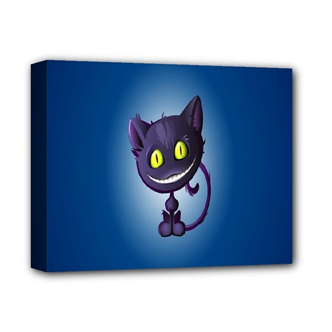 Funny Cute Cat Deluxe Canvas 14  X 11