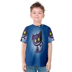 Funny Cute Cat Kids  Cotton Tee