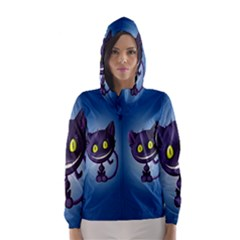 Funny Cute Cat Hooded Wind Breaker (women)