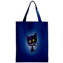 Funny Cute Cat Zipper Classic Tote Bag