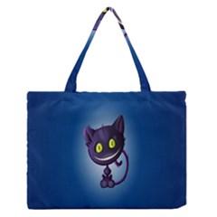Funny Cute Cat Medium Zipper Tote Bag