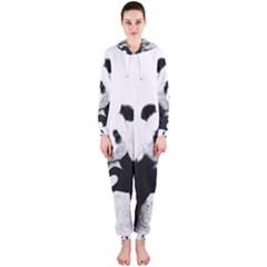 Panda Love Heart Hooded Jumpsuit (ladies)