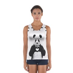 Panda Love Heart Sport Tank Top