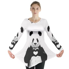 Panda Love Heart Long Sleeve Tunic