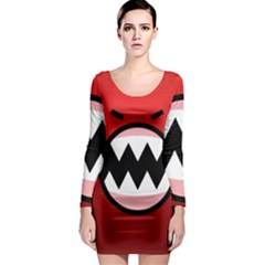 Funny Angry Long Sleeve Bodycon Dress