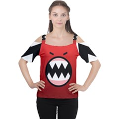 Funny Angry Cutout Shoulder Tee