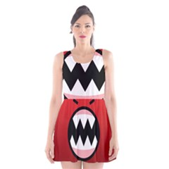 Funny Angry Scoop Neck Skater Dress