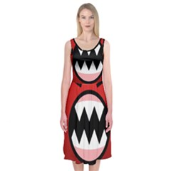 Funny Angry Midi Sleeveless Dress