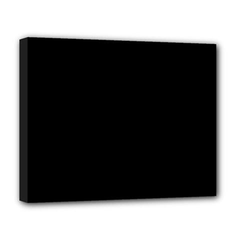 Black Deluxe Canvas 20  X 16