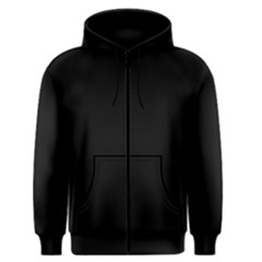 Black Men s Zipper Hoodie