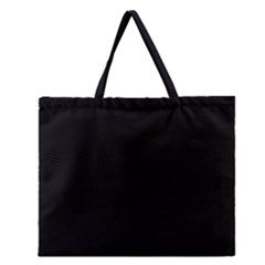 Black Zipper Large Tote Bag