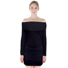 Black Long Sleeve Off Shoulder Dress