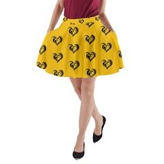 Lovely Hearts 17e A Line Pocket Skirt