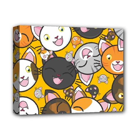 Cats Cute Kitty Kitties Kitten Deluxe Canvas 14  X 11