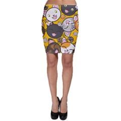Cats Cute Kitty Kitties Kitten Bodycon Skirt