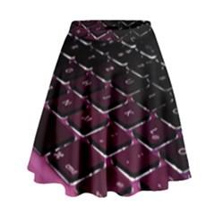 Computer Keyboard High Waist Skirt