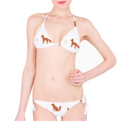 Fox Animal Wild Pattern Bikini Set