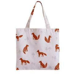 Fox Animal Wild Pattern Grocery Tote Bag