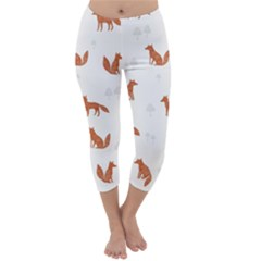 Fox Animal Wild Pattern Capri Winter Leggings