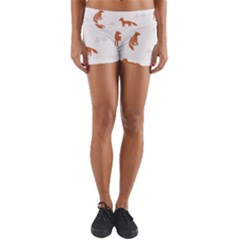Fox Animal Wild Pattern Yoga Shorts