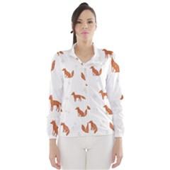 Fox Animal Wild Pattern Wind Breaker (women)