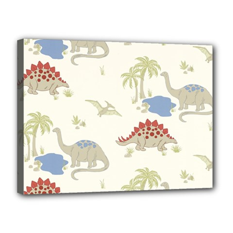Dinosaur Art Pattern Canvas 16  X 12