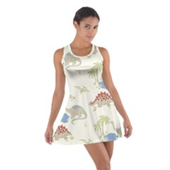 Dinosaur Art Pattern Cotton Racerback Dress