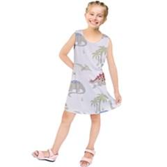 Dinosaur Art Pattern Kids  Tunic Dress