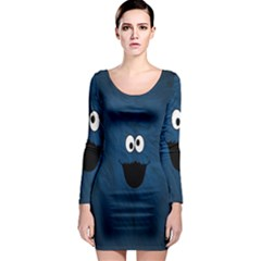 Funny Face Long Sleeve Bodycon Dress